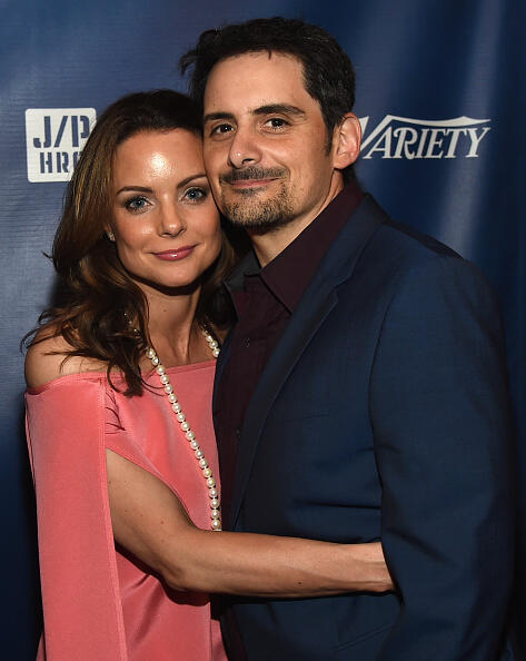 NASHVILLE, TN - APRIL 26: Actor Kimberly Williams-Paisley and Singer/Songwriter Brad Paisley attend the 1st Annual Nashville Shines for Haiti concert Hosted by Johnathon Arndt and Newman Arndt benefiting J/P Haitian Relief Organization - Day 1, hosted by Johnathon Arndt and Newman Arndt at the Arndt Estate on April 26, 2016 in Nashville, Tennessee. (Photo by Rick Diamond/Getty Images for Haiti Shines)