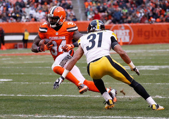 Pittsburgh Steelers v Cleveland Browns by Gregory Shamus/Getty Images