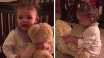 Tell Me Something Good - Baby Girl Gets A Bear From Deployed Daddy