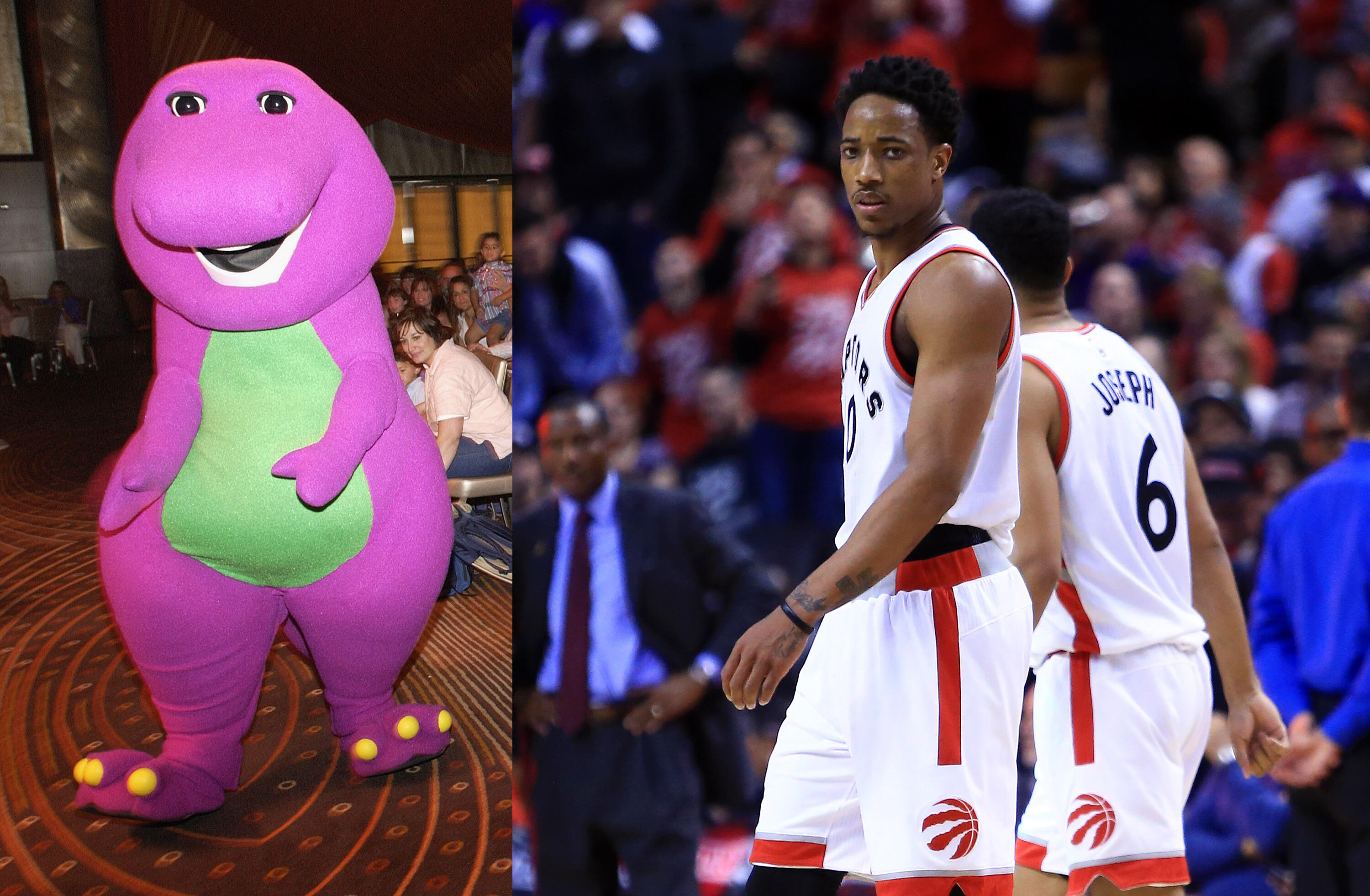 differently b7911 8f951 Bucks troll Raptors with Barney-themed intros, win Game 3 by ...