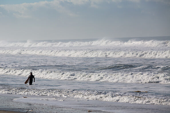 El Nino Storms Bring Massive Waves to California Coast