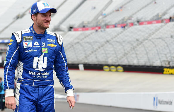 BRISTOL, TN - APRIL 22:  Dale Earnhardt Jr., driver of the #88 Nationwide Chevrolet, walks through the garage area during practice for the Monster Energy NASCAR Cup Series Food City 500 at Bristol Motor Speedway on April 22, 2017 in Bristol, Tennessee.  (Photo by Jared C. Tilton/Getty Images)