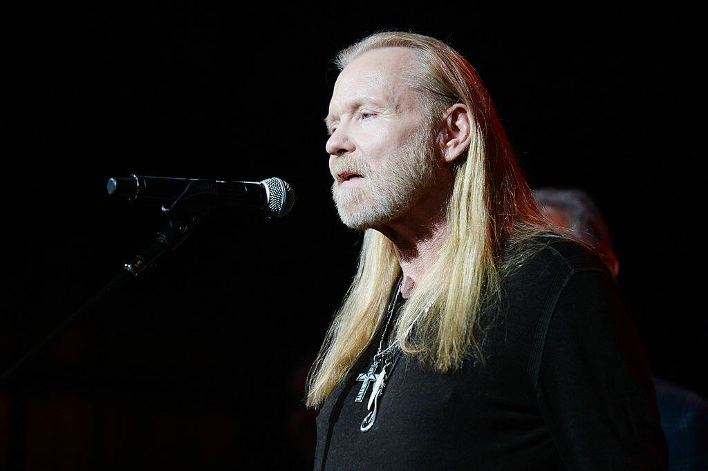 ATLANTA, GA - JANUARY 10:  Gregg Allman speaks during All My Friends: Celebrating the Songs & Voice of Gregg Allman at The Fox Theatre on January 10, 2014 in Atlanta, Georgia.  (Photo by Andrew H. Walker/Getty Images)