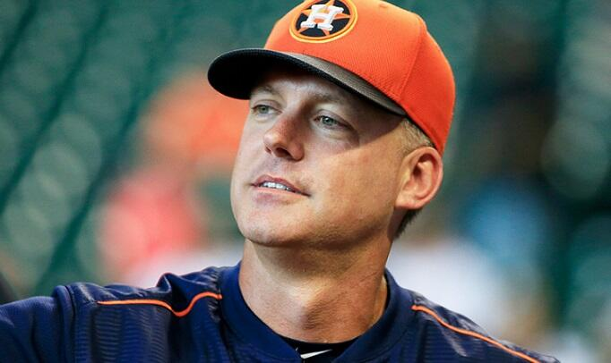HOUSTON, TX - JUNE 25:  Houston Astros manager A.J. Hinch #14 waits on the field during batting practice prior to the game between the New York Yankees and Houston Astros at Minute Maid Park on June 25, 2015 in Houston, Texas.  (Photo by Scott Halleran/Ge