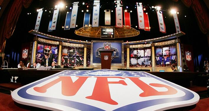NEW YORK - APRIL 29:  The stage is shown with the NFL Logo at the 2006 NFL Draft on April 29, 2006 at Radio City Music Hall in New York, New York. (Photo by Chris Trotman/Getty Images)