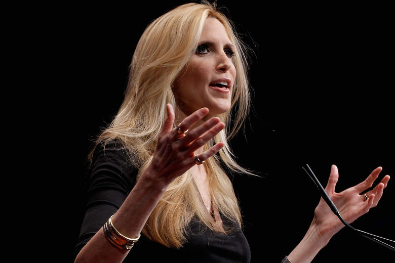 WASHINGTON, DC - FEBRUARY 10:  Conservative author and pundit Ann Coulter delivers remarks to the Conservative Political Action Conference (CPAC) at the Marriott Wardman Park February 10, 2012 in Washington, DC. Thousands of conservative activists are att