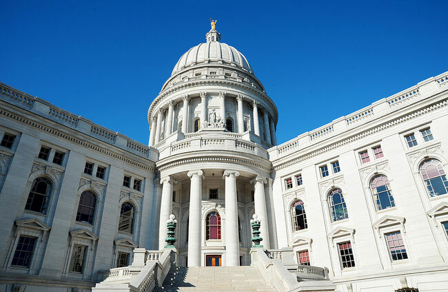 The Wisconsin State Capitol building on