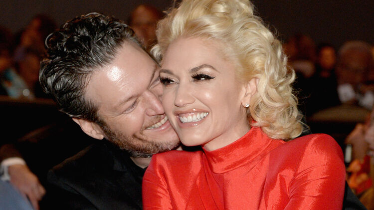 Gwen Stefani and Blake Shelton at 2016 Pre-GRAMMY Gala