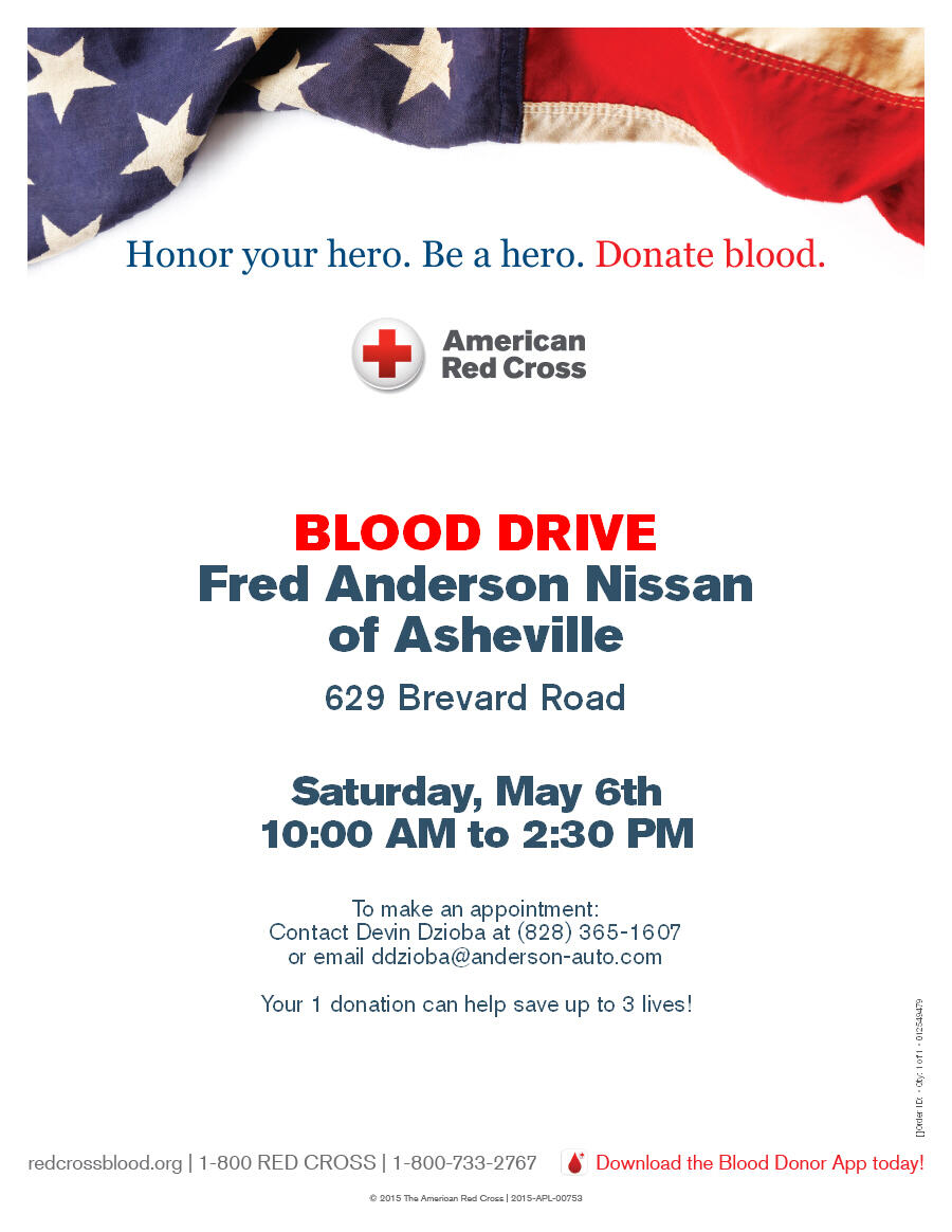 Join Us This Saturday At Fred Anderson Nissan Give To