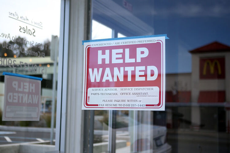 "Getty Images. ""Help wanted"""