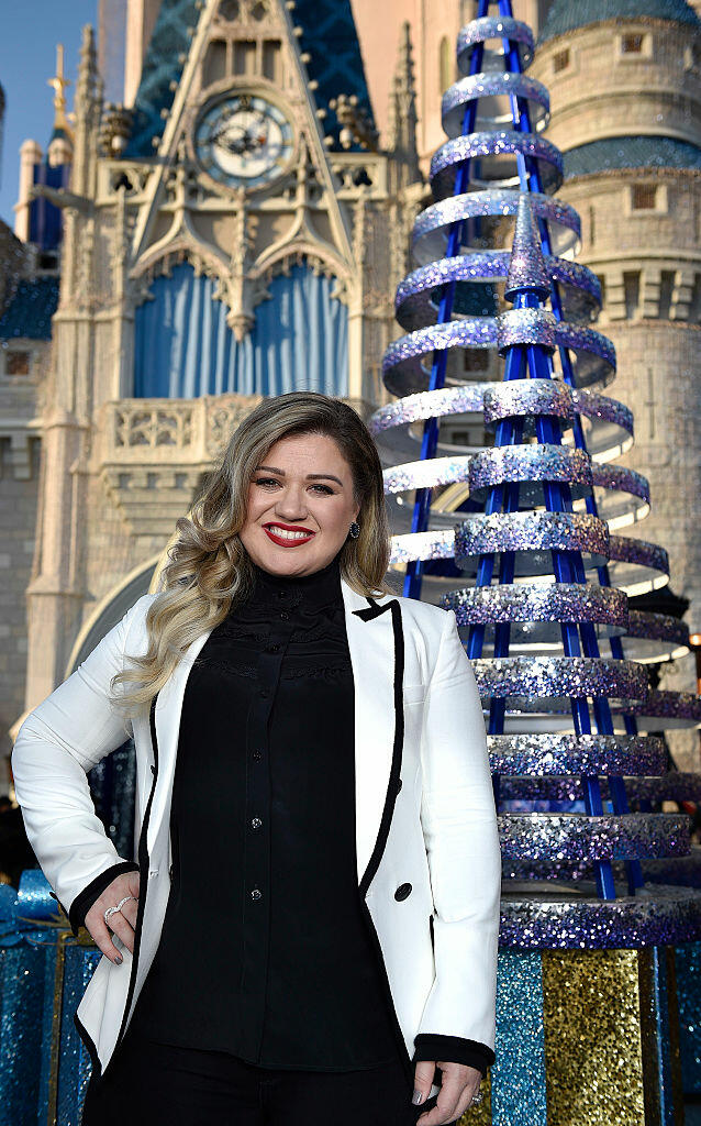 LAKE BUENA VISTA, FL - NOVEMBER 10:  In this handout photo provided by Disney Parks, Grammy award-winning singer-songwriter Kelly Clarkson poses between performances for the ABC and Disney Channel holiday TV specials