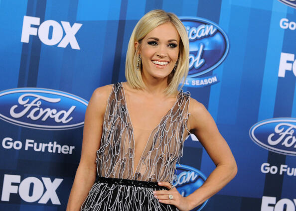 HOLLYWOOD, CALIFORNIA - APRIL 07:  Actress Carrie Underwood arrives at FOX's