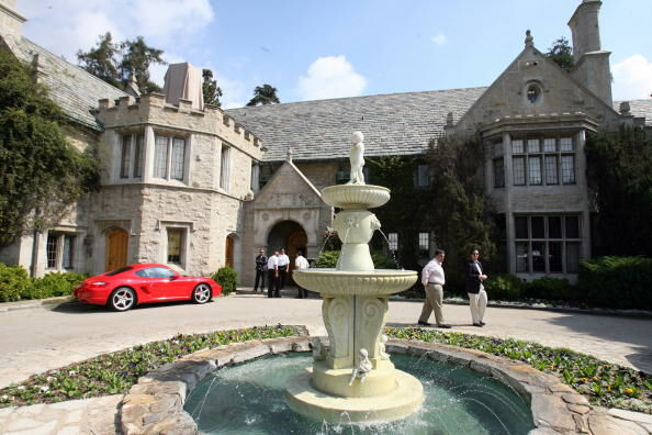 View of the Playboy Mansion, owned by US