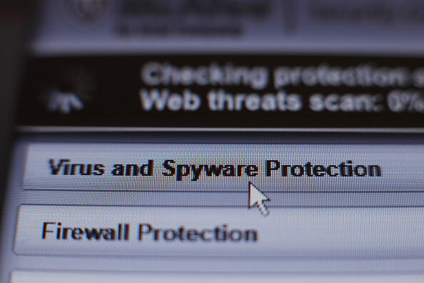 Internet security software performing an anti-virus and anti-spyware scan on a laptop, after the NHS has been hit by a major cyber attack on its computer systems. (Photo by Yui Mok/PA Images via Getty Images)