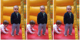 HOMETOWN HAPPENINGS - Coolest Little Kid Bouncing In A Bounce House!