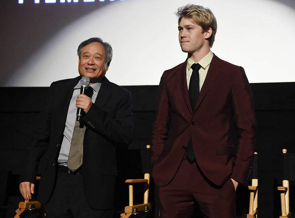 NEW YORK, NY - OCTOBER 14:  Director Ang Lee and Joe Alwyn speak onstage at the