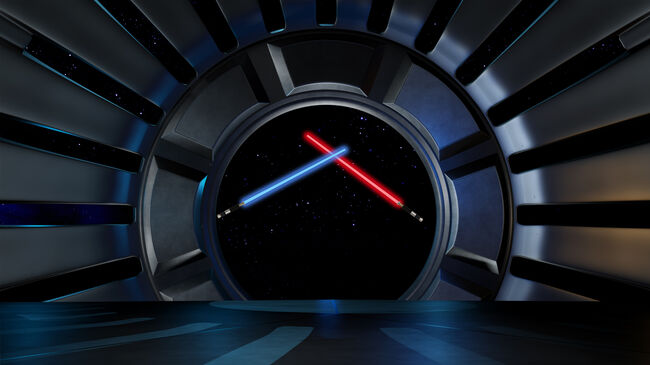 Lightsaber in space environment, ready for comp of your characters.