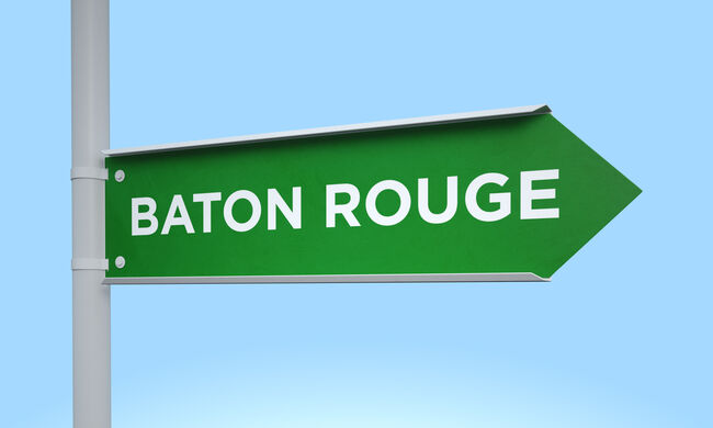 Green signpost baton rouge
