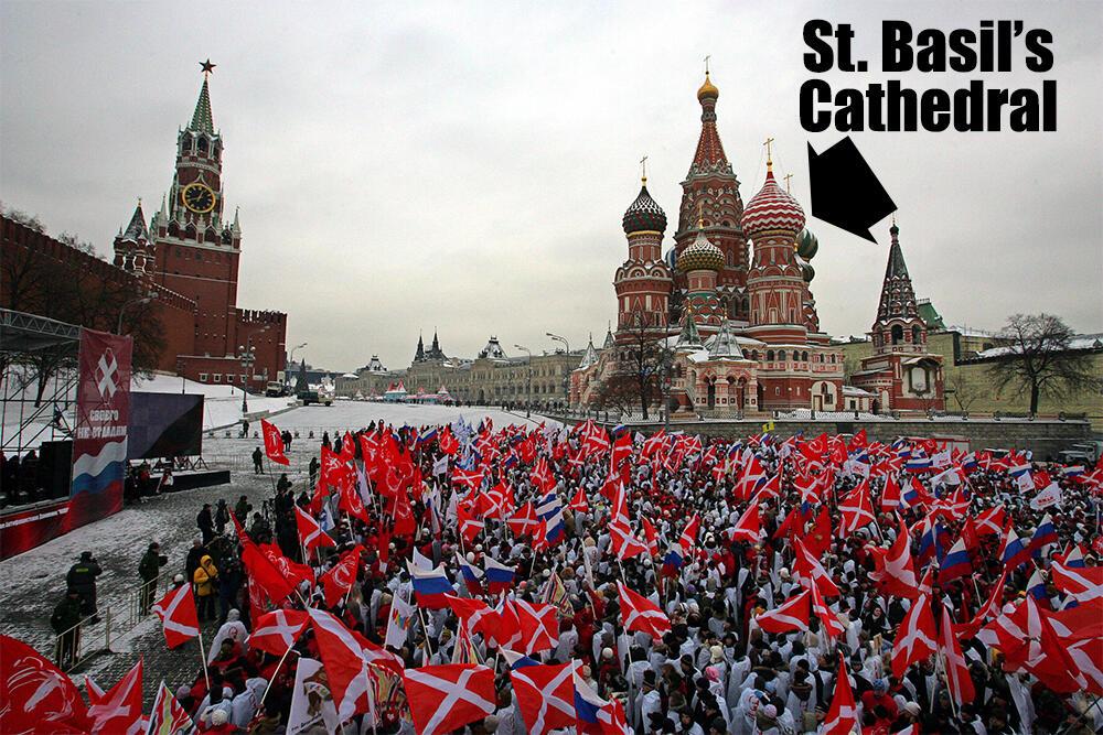 Members of the pro-Kremlin youth group N