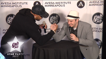 KDWB Star Party 2017 - WATCH: Zach Dillon Challenges Flo Rida To An Arm Wrestling Match!