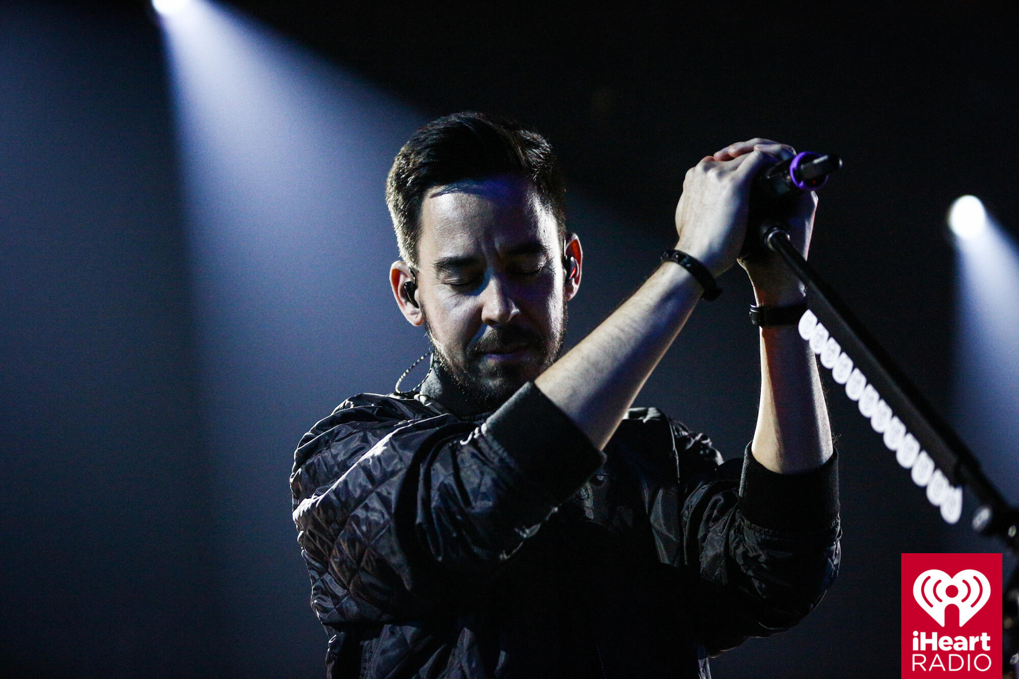 BURBANK, CA - MAY 22:  Mike Shinoda of Linkin Park performs on stage at the iHeartRadio Album Release Party presented by State Farm at the iHeartRadio Theater Los Angeles on May 22, 2017 in Burbank, California.  (Photo by Rich Fury/Getty Images for