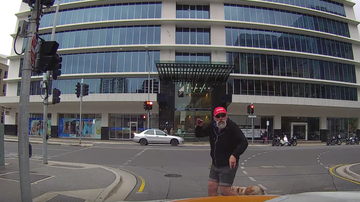 Johnjay And Rich - Angry Pedestrian Gets Instant Karma