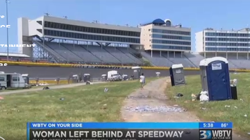 Steve - (Watch) NASCAR Fan Falls Asleep In The Infield At Charlotte So Her Family Just Left Her There