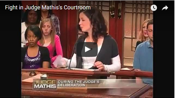 Slomotion - Fight in Judge Mathis's Courtroom