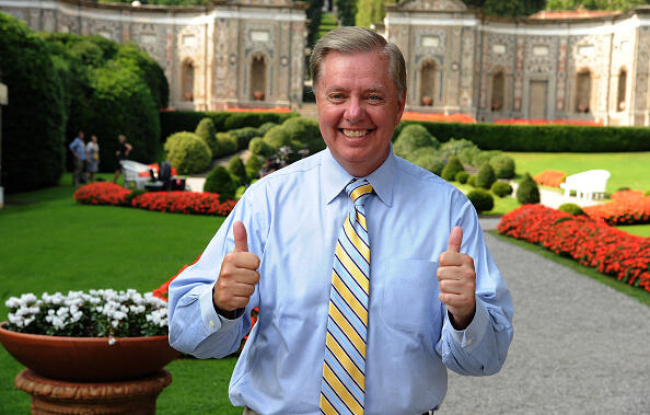 COMO, ITALY - SEPTEMBER 02:  Lindsey Graham senator in the United States for South Carolina poses during Ambrosetti International Forum on September 2, 2016 in Cernobbio near Como, Italy. 'Intelligenge on the world, Europe, and Italy' is the title of the workshop of the 42th edition of the Ambrosetti International Economy Forum.  (Photo by Pier Marco Tacca/Getty Images)