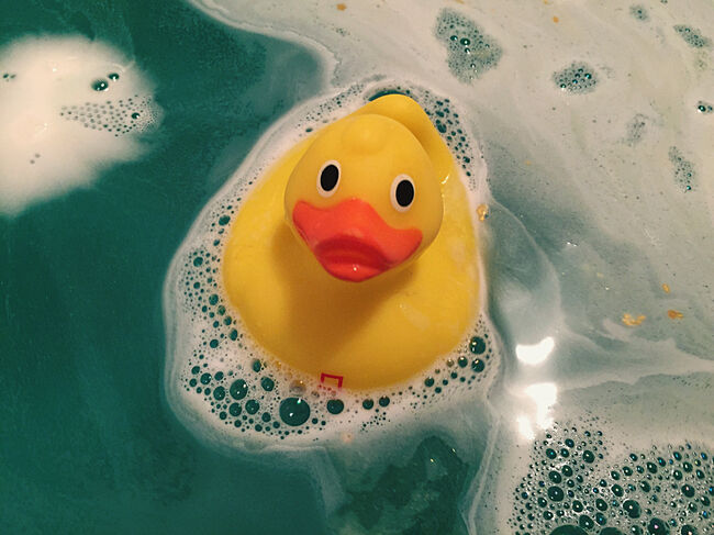Close Up Of Rubber Duck