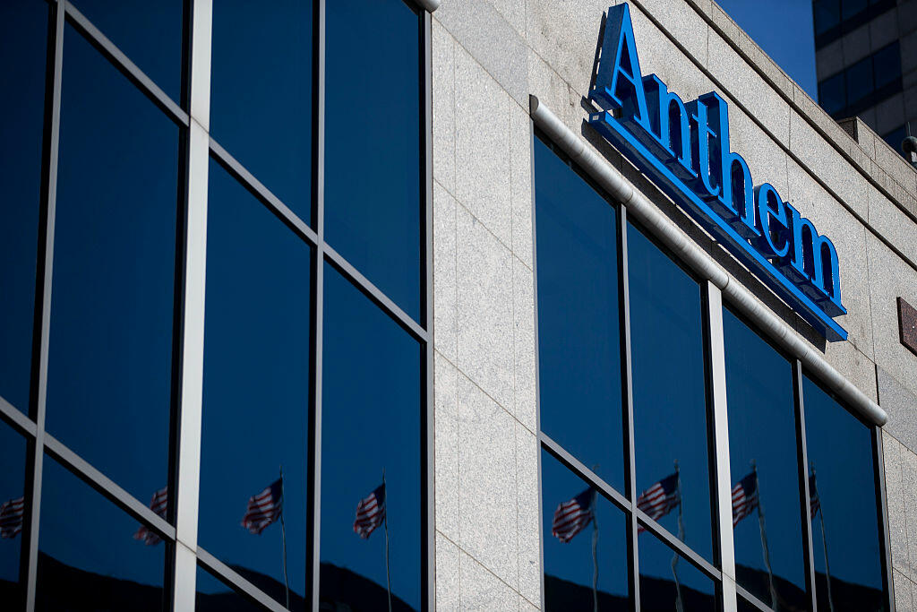 INDIANAPOLIS, IN - FEBRUARY 5: An exterior view of the Anthem Health Insurance headquarters on February 5, 2015 in Indianapolis, Indiana. About 80 million company records were accessed in what may be among the largest healthcare data breaches to date. (Photo by Aaron P. Bernstein/Getty Images)