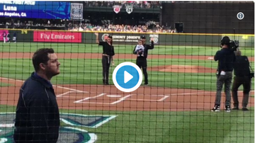 Tessa Hall - John Legend's Baby Girl Luna Throws First Pitch