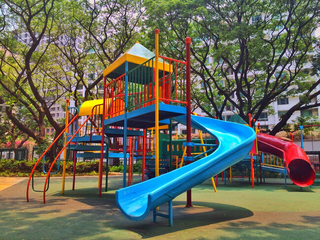 Playground Against Trees