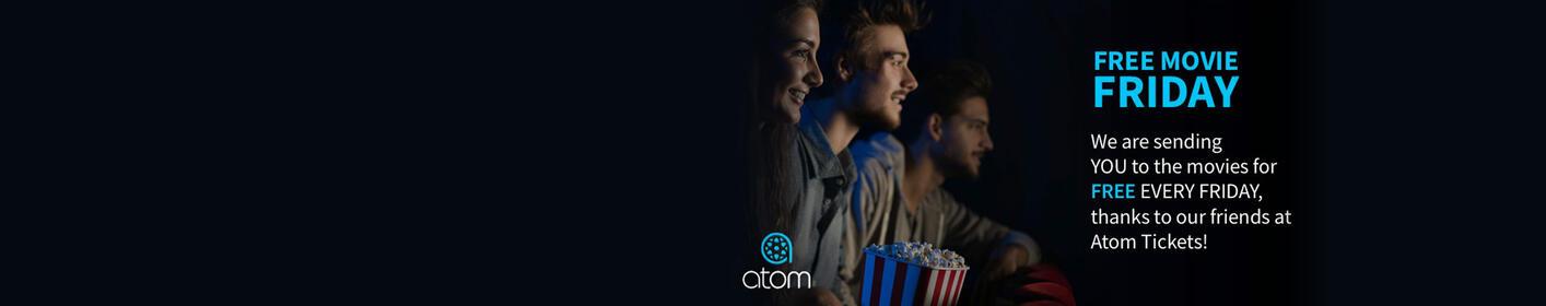 Win Movie Tickets Every Friday from Atom Tickets