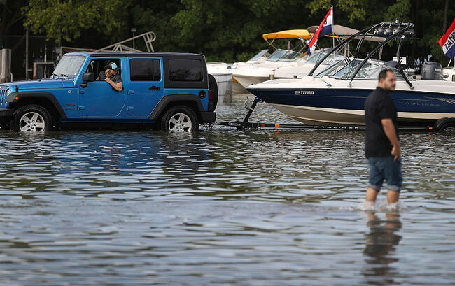 Higher Than Normal Tide Causes Flooding In South Florida
