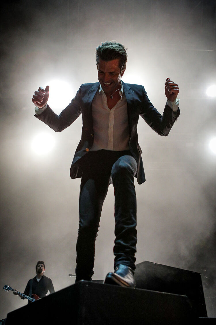 The Killers live at the 10th Birthday Show Night Two (Photo: Stephen Eckert)