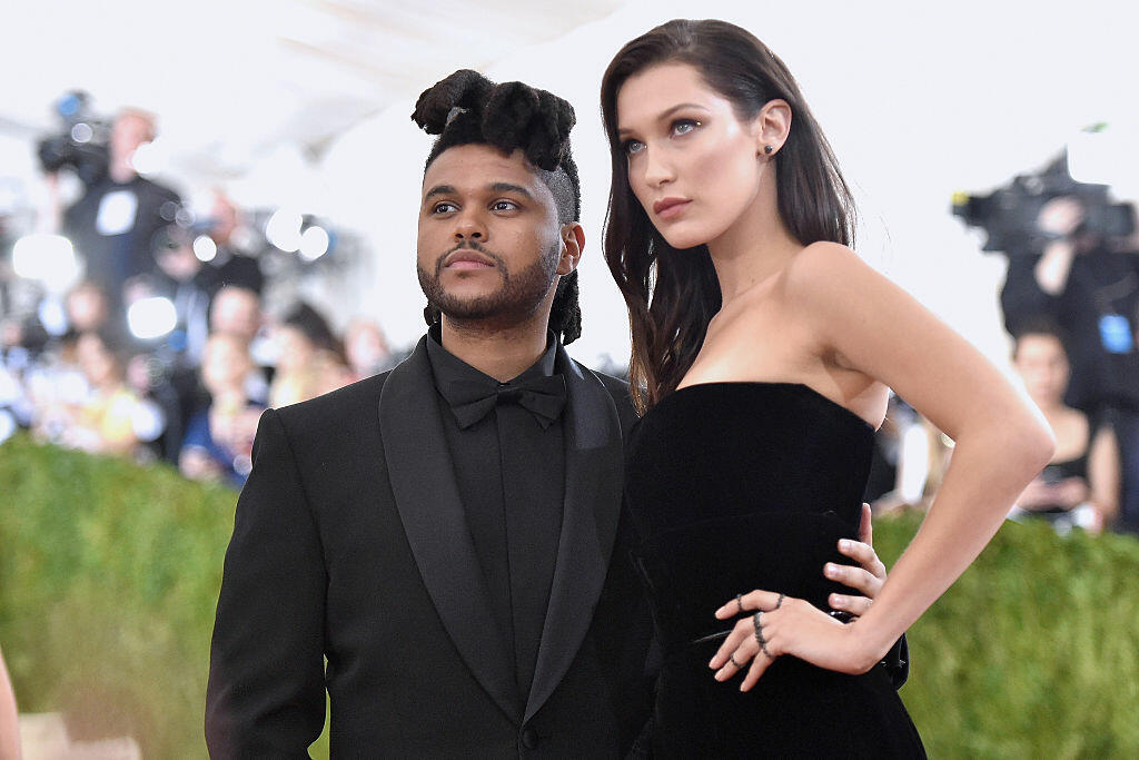 NEW YORK, NY - MAY 02:  The Weeknd (L) and Bella Hadid attend the