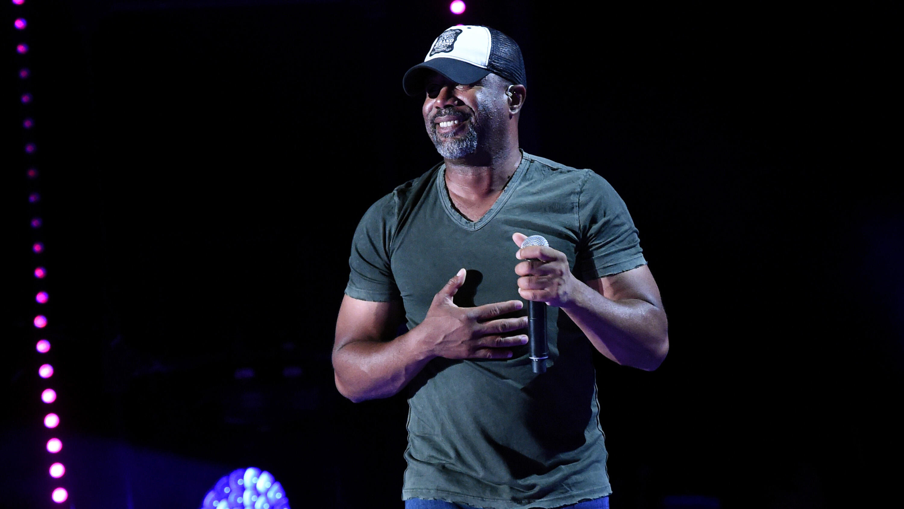 NASHVILLE, TN - JUNE 11:  (EDITORIAL USE ONLY)  Singer-songwriter Darius Rucker performs onstage during day 4 of the 2017 CMA Music Festival on June 11, 2017 in Nashville, Tennessee.  (Photo by Rick Diamond/Getty Images)
