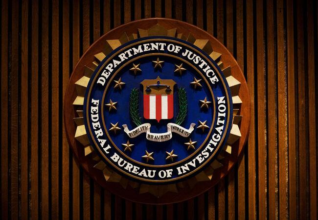 A crest of the Federal Bureau of Investi