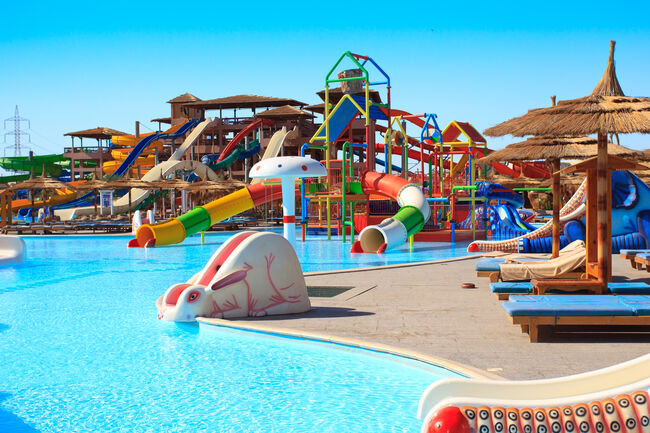 Kids waterpark and a swimming pool