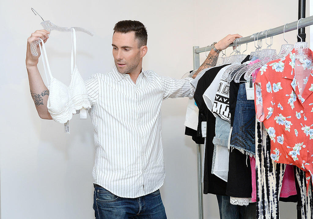 LOS ANGELES, CA - APRIL 17:  Adam Levine celebrates the launch of his new women's collection for Kmart and Shop Your Way at Ace Gallery on April 17, 2014 in Los Angeles, California.  (Photo by Michael Kovac/Getty Images for Kmart)