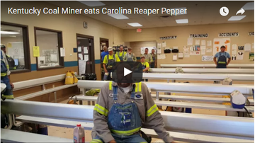 Slomotion - Kentucky Coal Miner eats Carolina Reaper Pepper