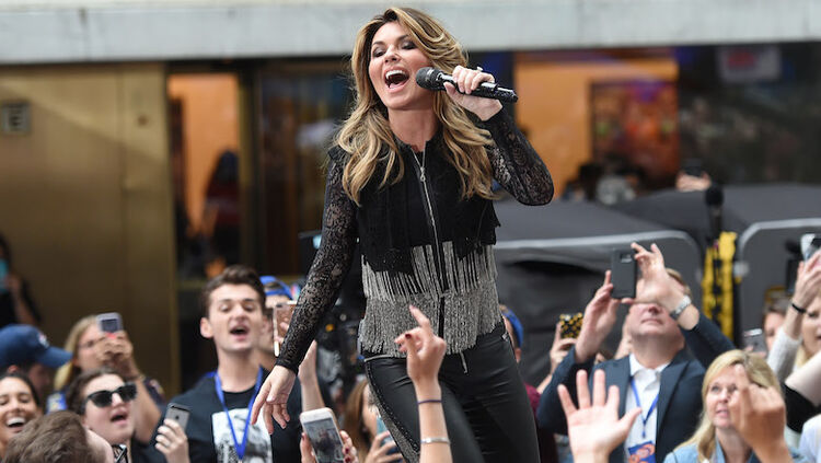 """Shania Twain Performs On NBC's """"Today"""""""