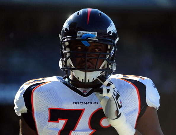 SAN DIEGO, CA - NOVEMBER 27:  Ryan Clady #78 of the Denver Broncos warms up before the game against the San Diego Chargers at Qualcomm Stadium on November 27, 2011 in San Diego, California.  (Photo by Harry How/Getty Images)