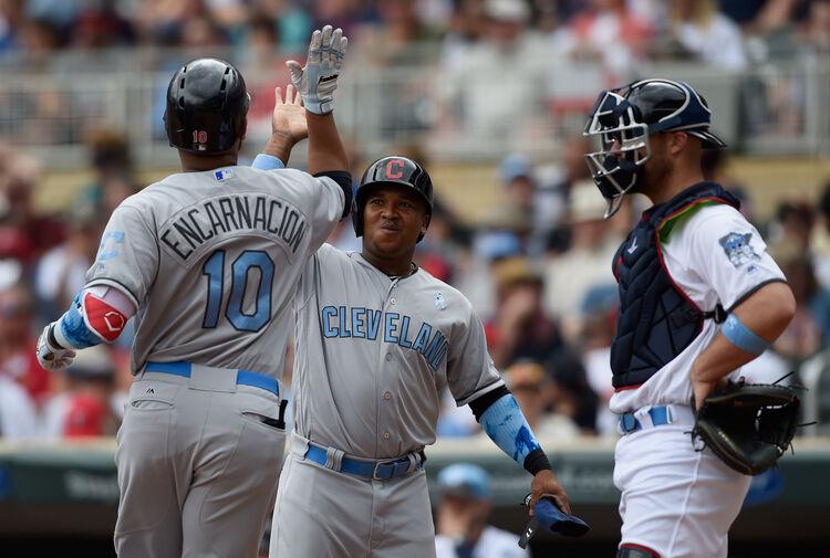 Edwin Encarnacion and Jose Ramirez are driving a push that's seen the Indians score 52 runs in a six-game winning streak