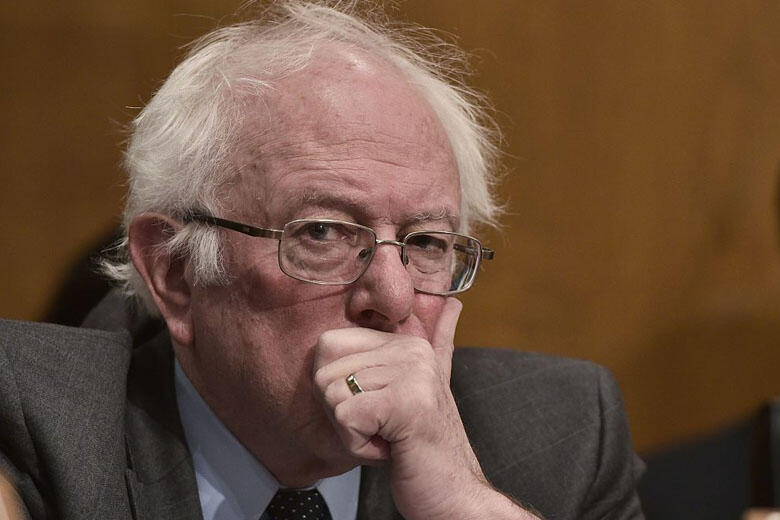 Senator Bernie Sanders, D-VT, attends the Health, Education, Labor, and Pensions Committee on the nomination of Rep Tom Price to be the next health and human services secretary in the Dirksen Senate Office Buillding on Capitol Hill in Washington, DC on Ja