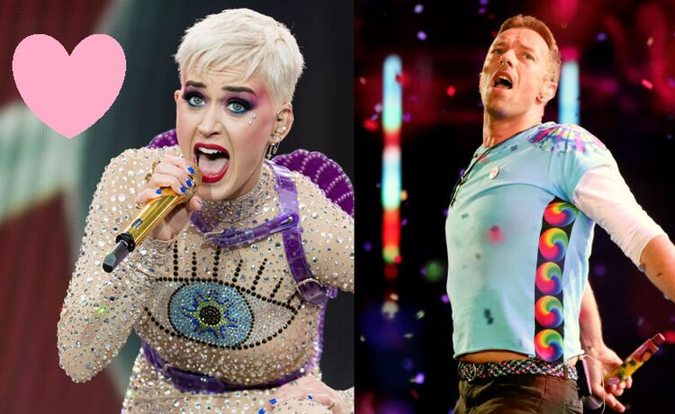 Katy Perry and Chris Martin