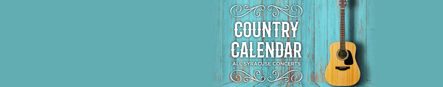 See all the upcoming country concerts coming to CNY!
