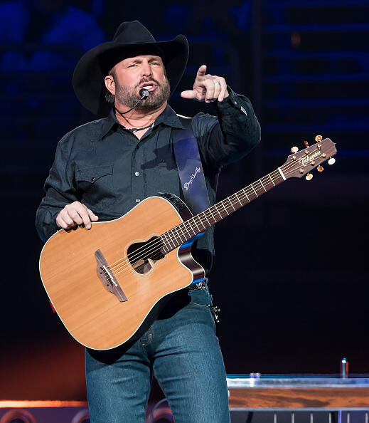 PHILADELPHIA, PA - MARCH 24:  Singer-songwriter Garth Brooks performs during The Garth Brooks World Tour with Trisha Yearwood at Wells Fargo Center on March 24, 2017 in Philadelphia, Pennsylvania. Garth Brooks returns to Philadelphia for the first time in 19 years.  (Photo by Gilbert Carrasquillo/Getty Images)
