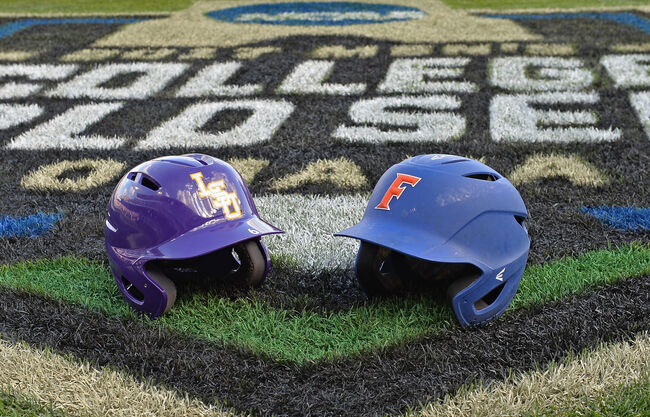 2017 Division I Men's College World Series - LSU v Florida - Game 1